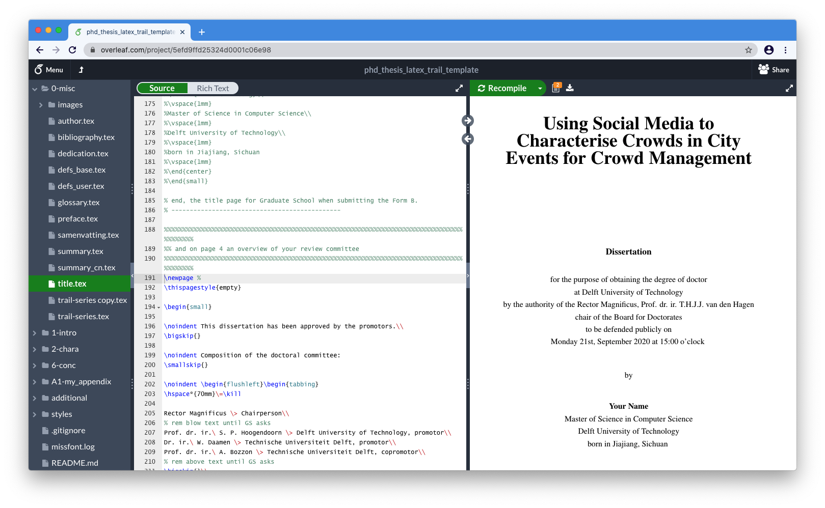 Writing a PhD thesis in LaTeX and R – blogger.com