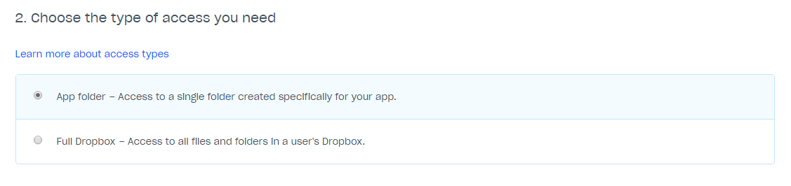Dropbox API 2