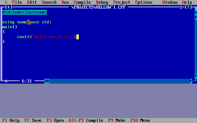 Download Turbo C++ for Windows 7, 8, 8.1 and Windows 10 (32-64 bit) with full/window screen mode and many more extra feature.