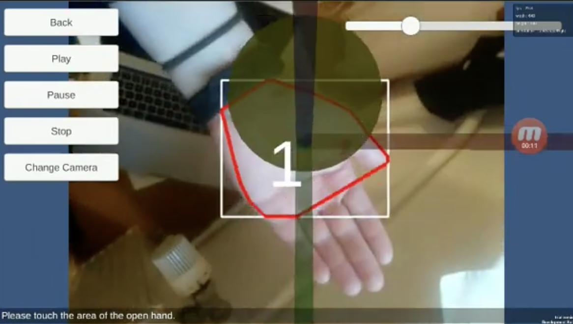Handpose AR screenshot