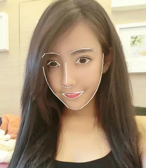 绘制脸部轮廓