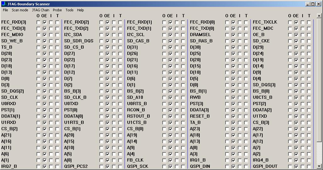 JTAG Boundary Scanner software