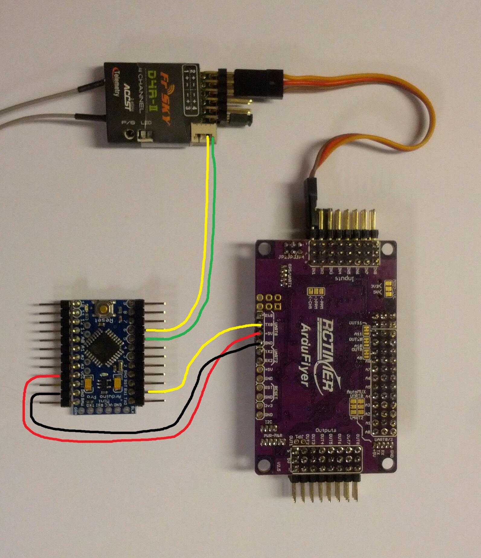 APM UART0 to Arduino pro mini