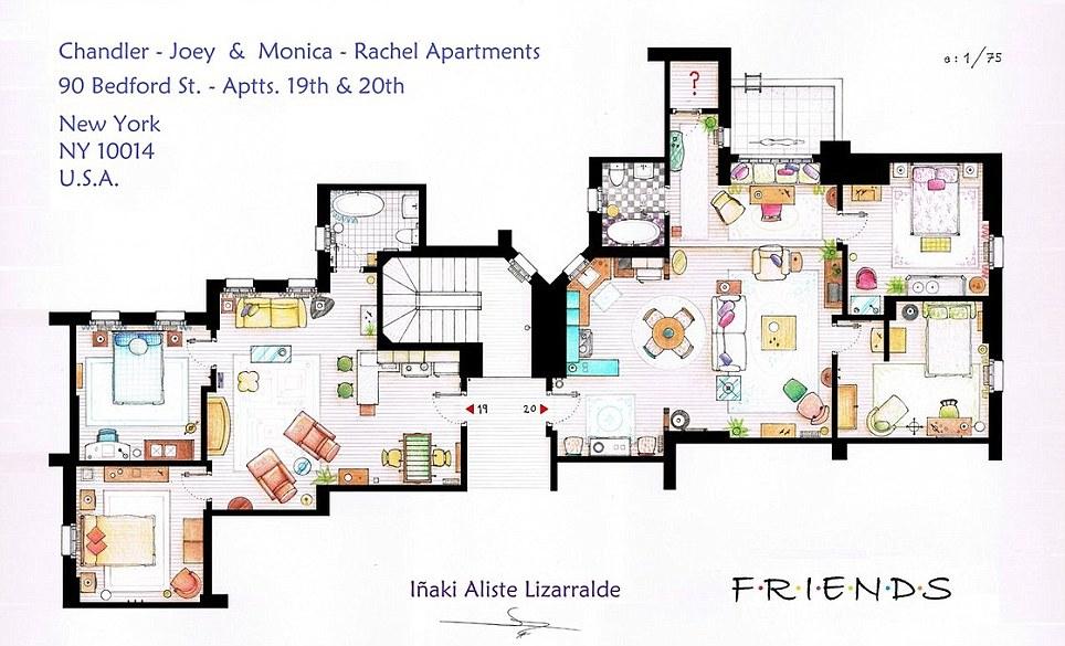 The One About Friends Woman Legend Blog Diy Monica S Apartment