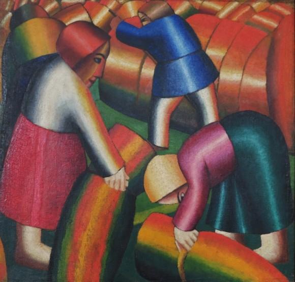Taking_in_the_Rye_Kazimir_Malevich_1911