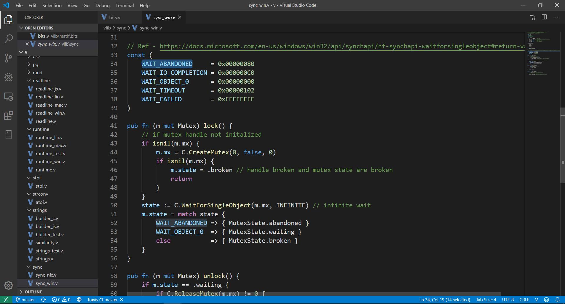 First demo screenshot