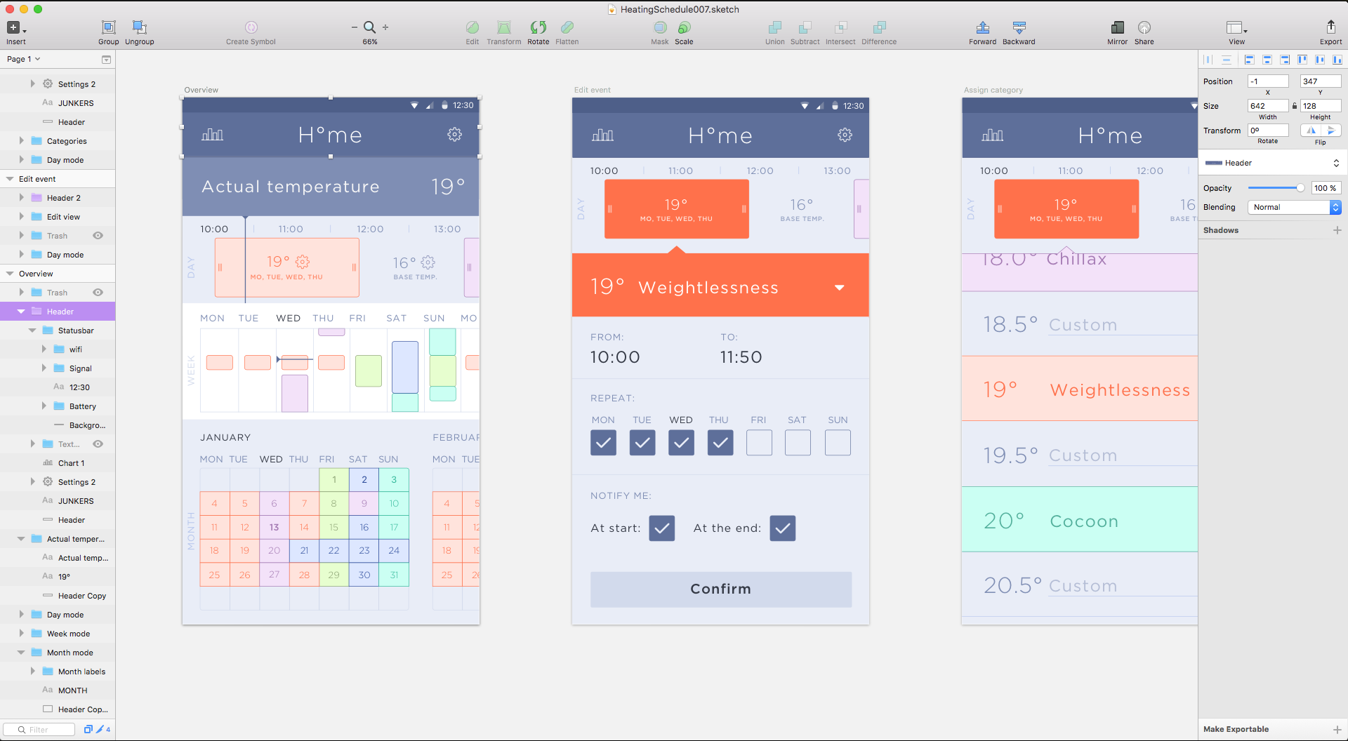 Designing H°ome in sketch