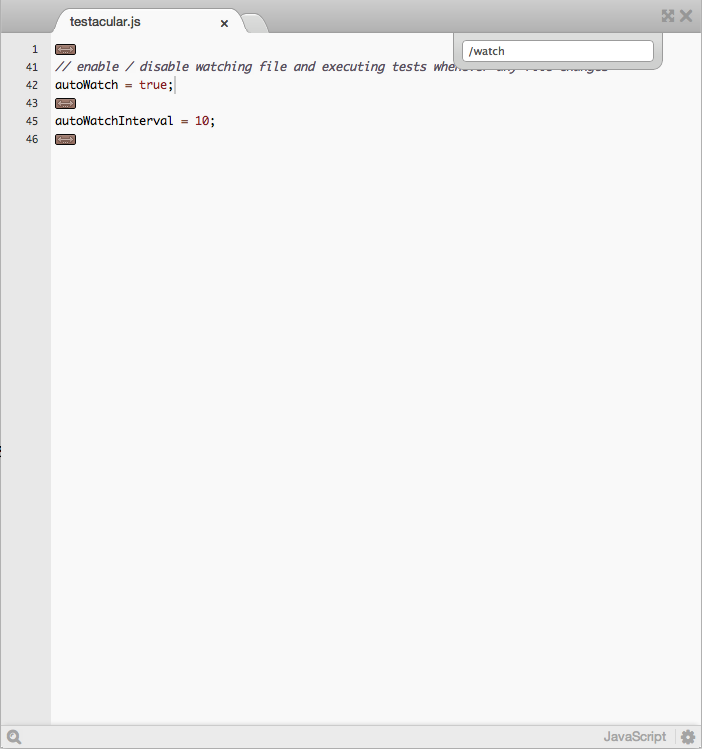 Screenshot: Grep like filtering