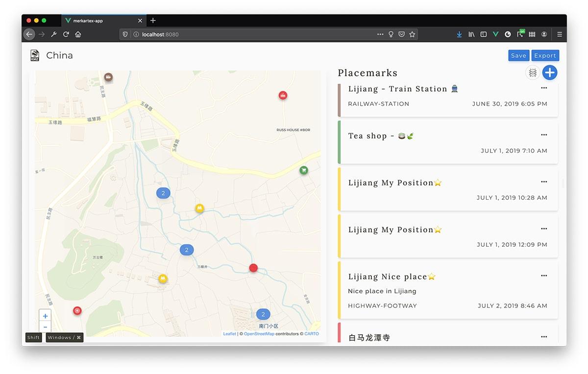 Interface Merkartex app - 1