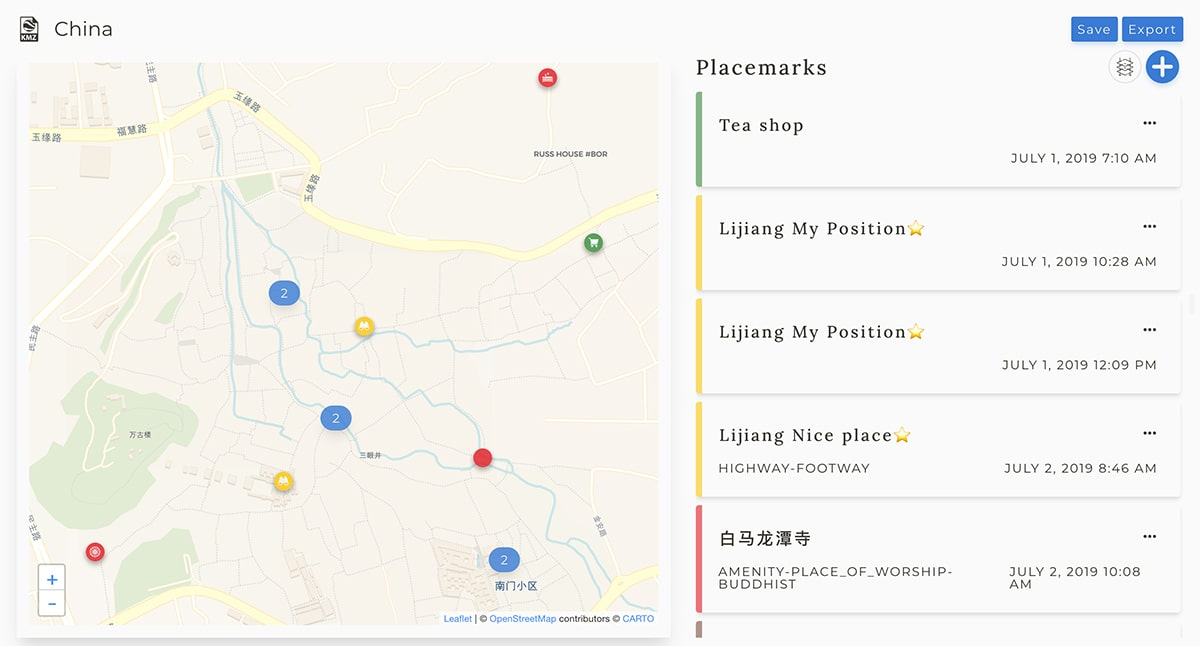 Interface Merkartex app - 2