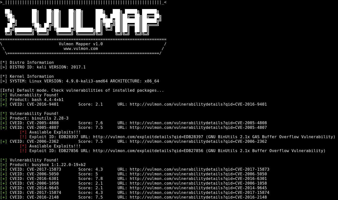 Screenshot from terminal