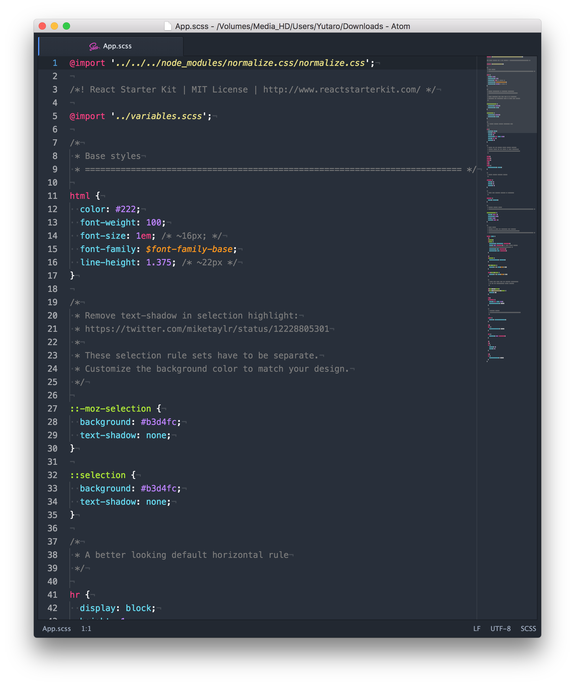 how to set syntax in atom