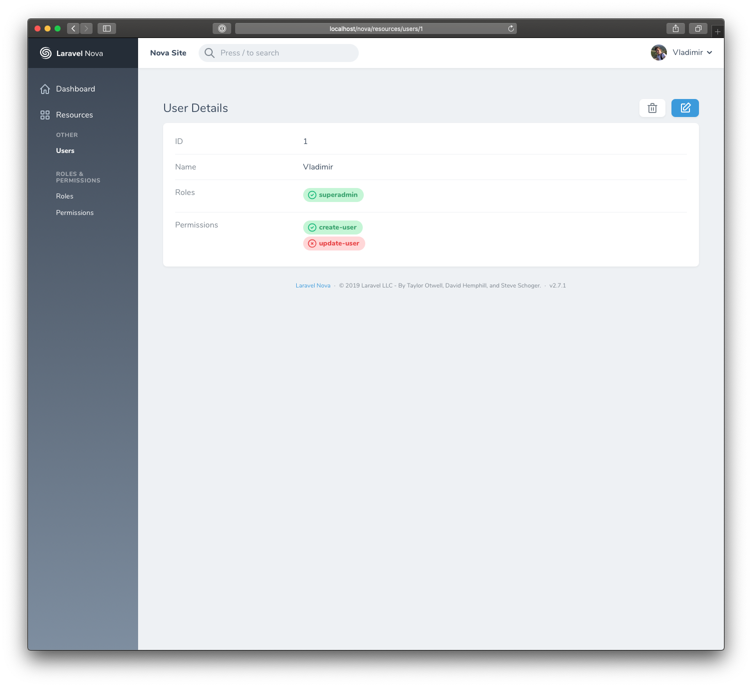 GitHub - vyuldashev/nova-permission: A Laravel Nova tool for