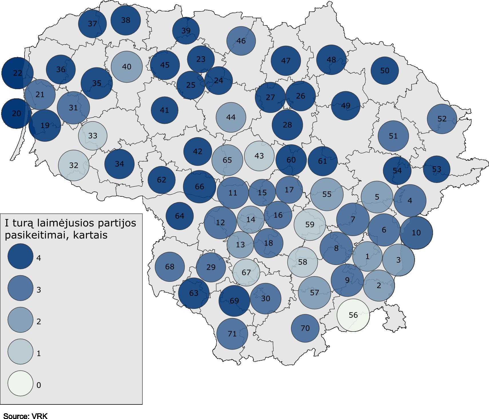 Lietuvos žemėlapio