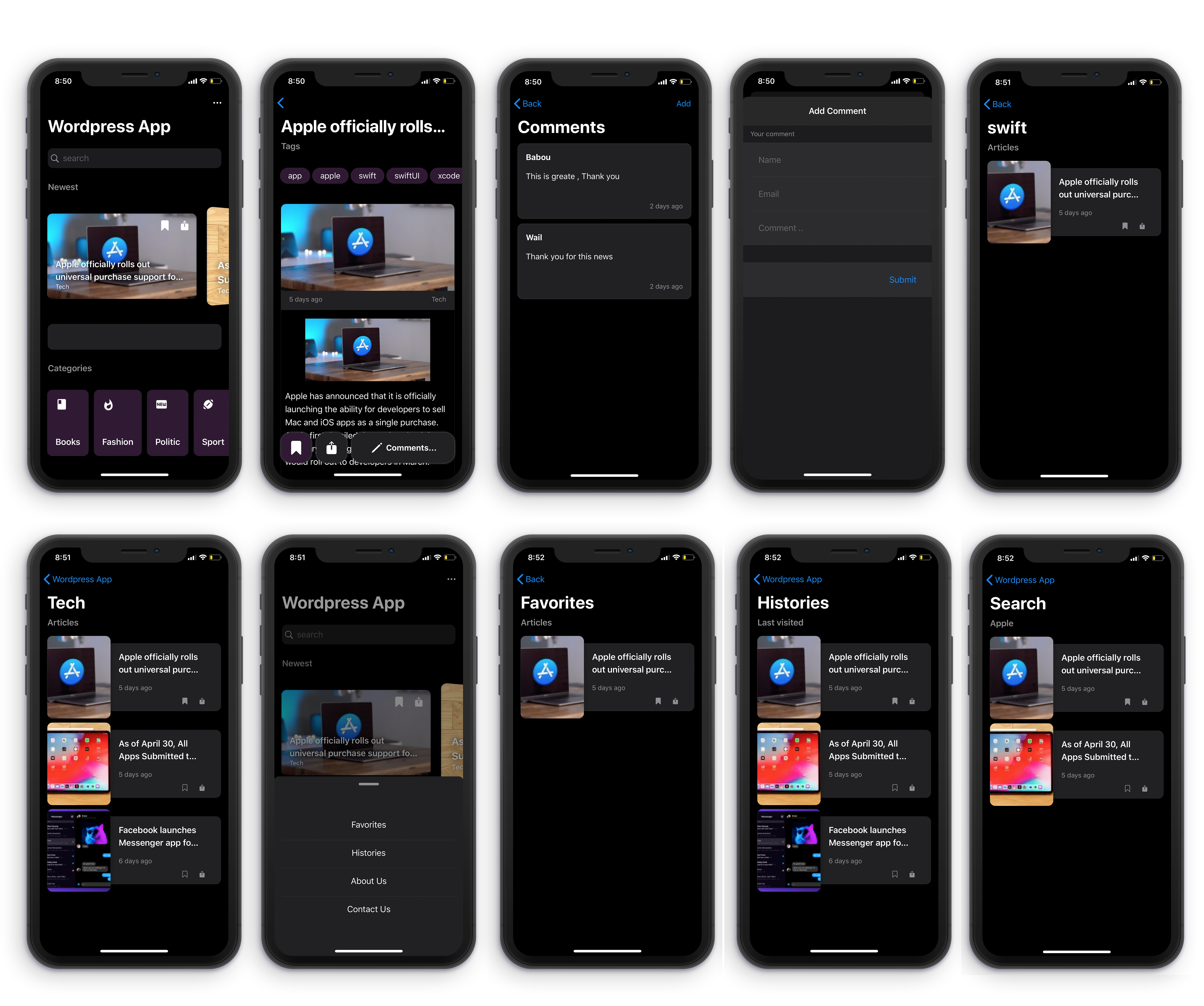 Ultimate WP IOS app v3 : SwiftUI , Dark Mode , Push Notifications , AdMob Download