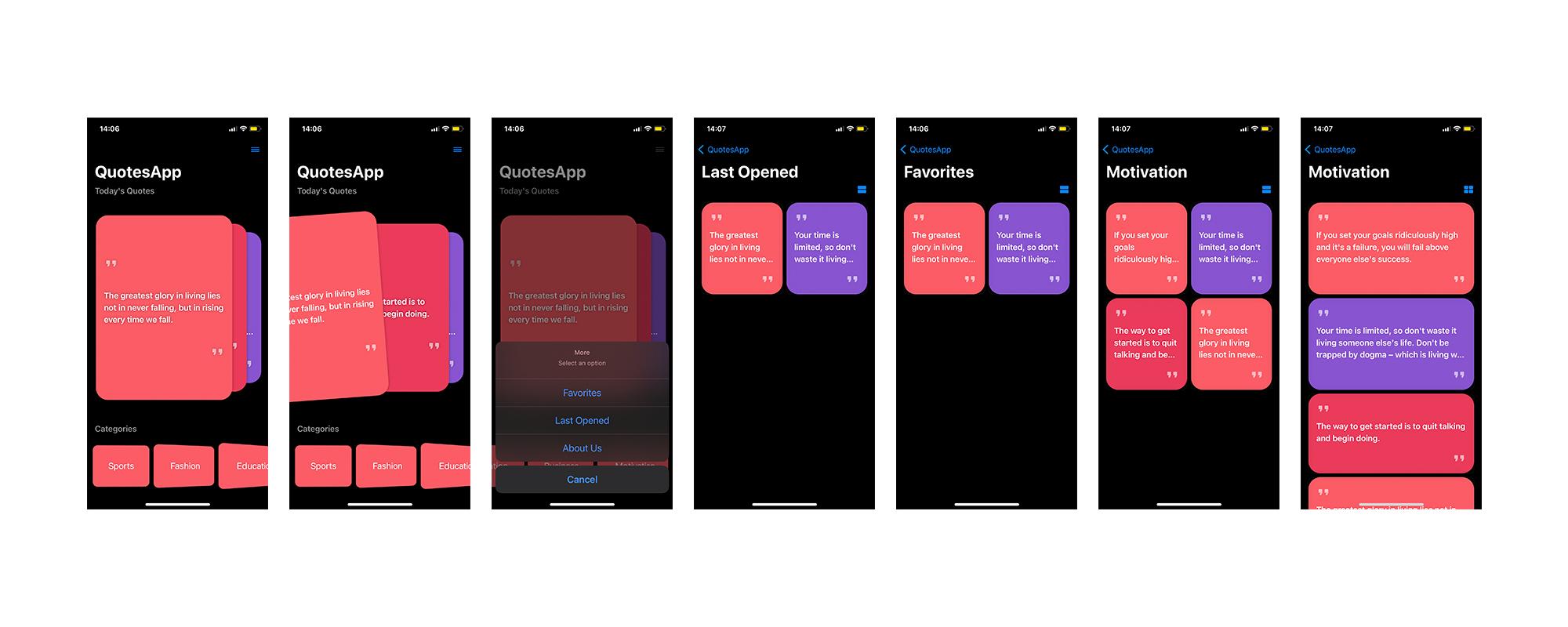 Quotes SwiftUI IOS App - 2