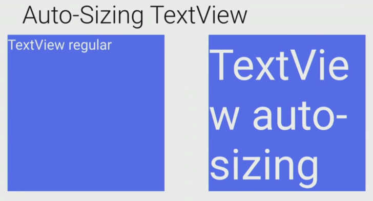 Auto Sizing TextView Examples