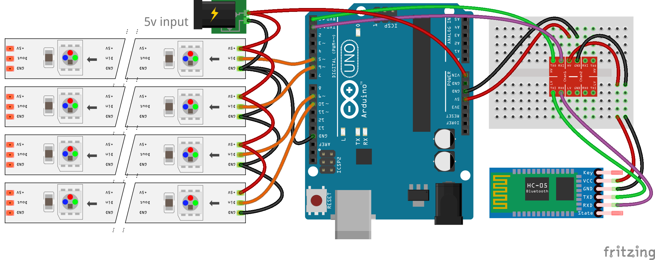Fritzing PNG: Arduino Bluetooth Led Strip