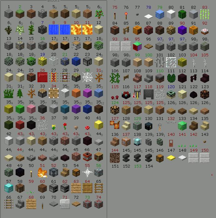 Types Of Building Blocks Minecraft