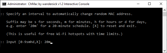 Interactively configure auto-changing