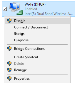 Manually disable and re-enable adapter