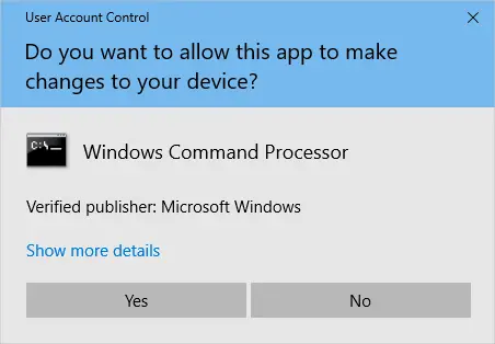 For admins with UAC enabled, UAC elevation prompt is displayed automatically, provided that an optional _elevate.vbs exists in the same folder