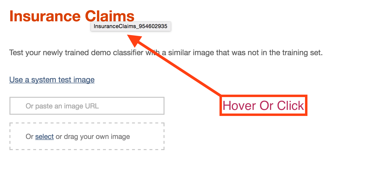 Classifier ID Tooltip