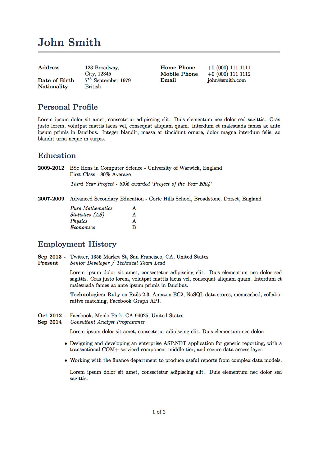 github  cv template 2004  my latex cv template