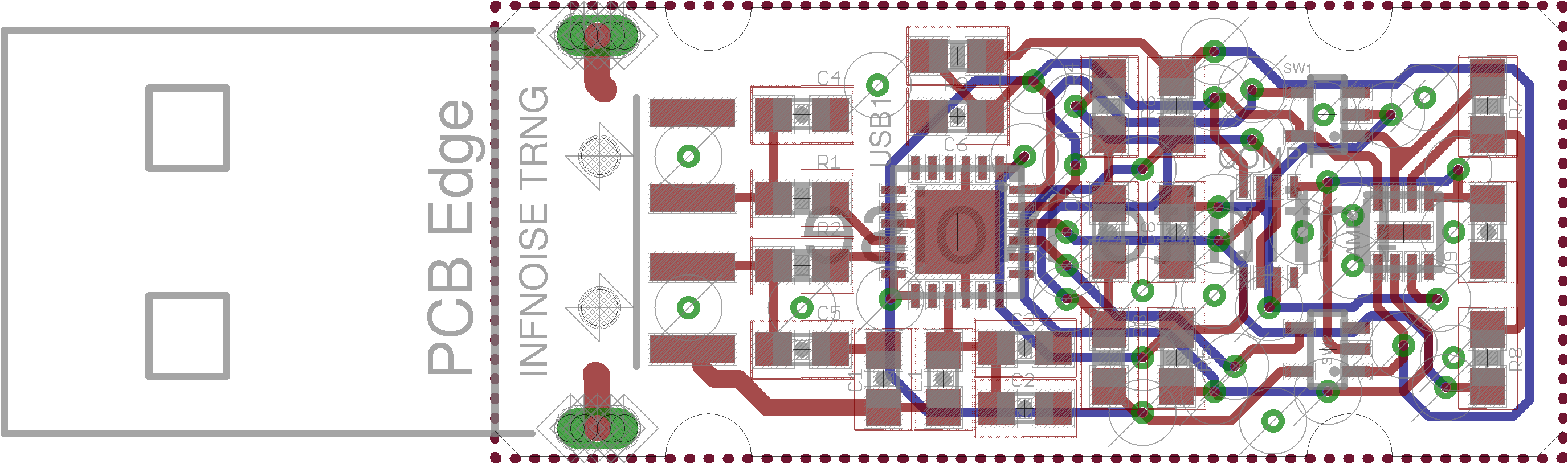 Board layout of Infinite Noise Multiplier