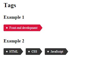 Теги для блога на чистом CSS