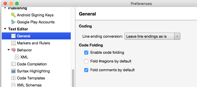 свертывание кода