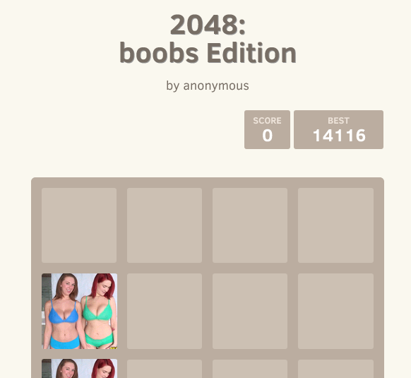 2048: boobs Edition