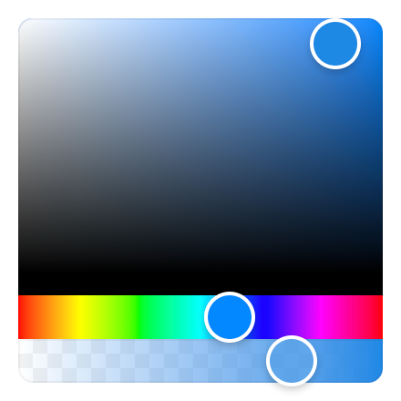 Screenshot of the color picker
