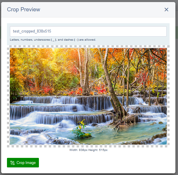 Crop Preview window