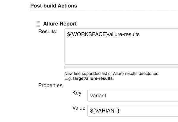 Configure Allure Reporter with Jenkins