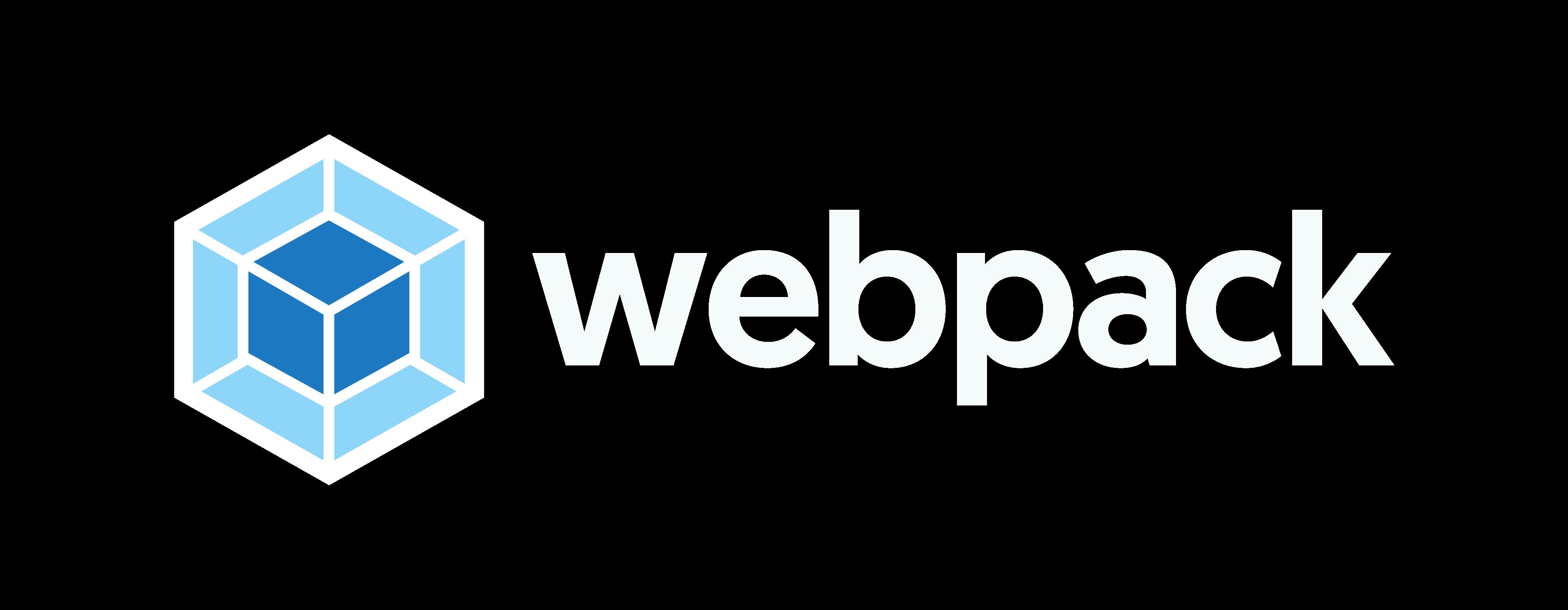 webpack logo default with proper spacing on light background