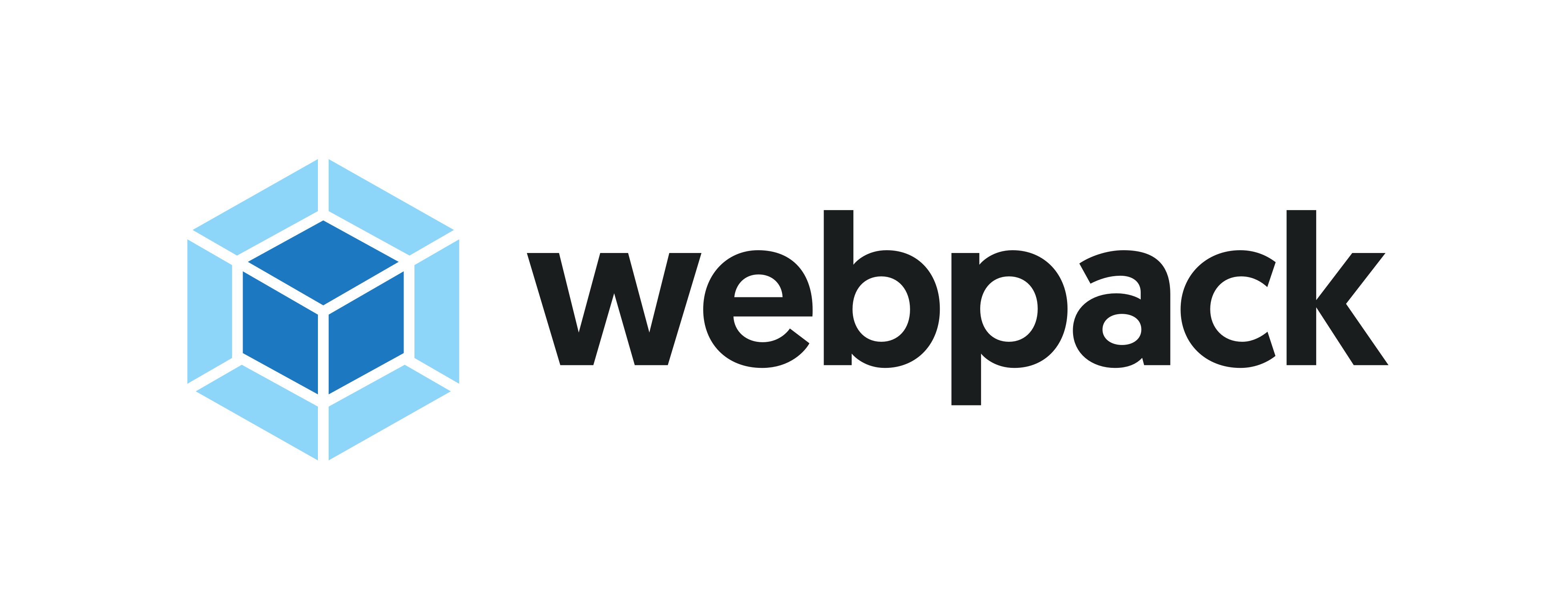 webpack logo default with proper spacing on light background