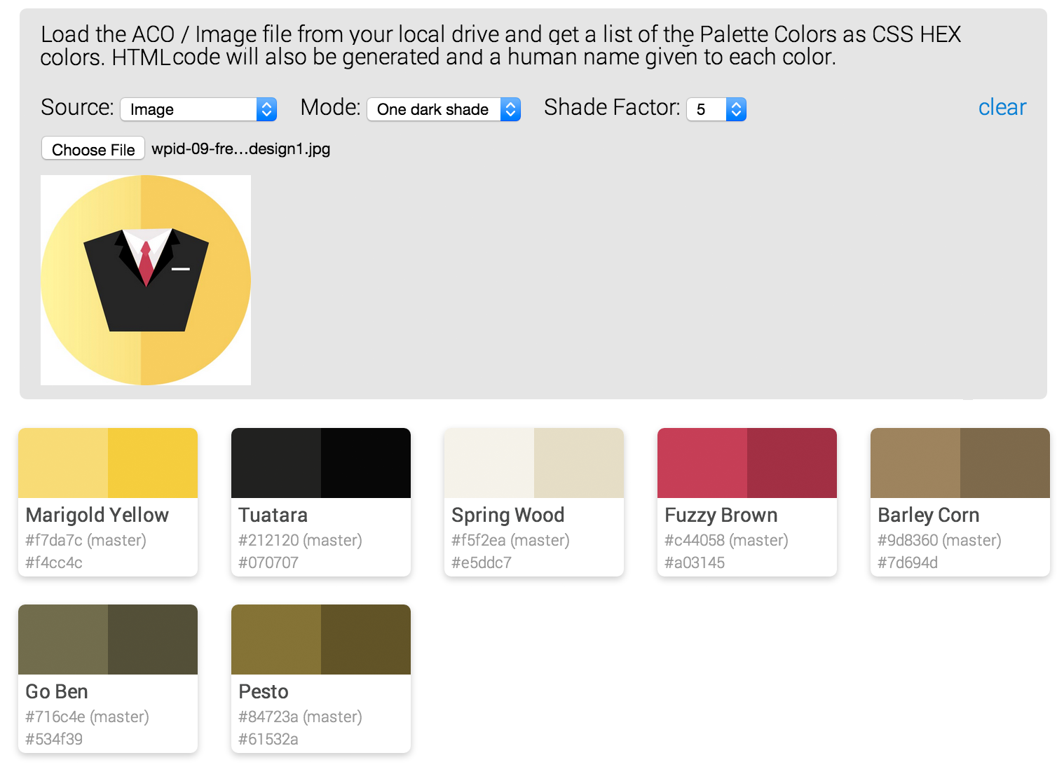GitHub - websemantics/Color-Palette-Toolkit: Turns color values from