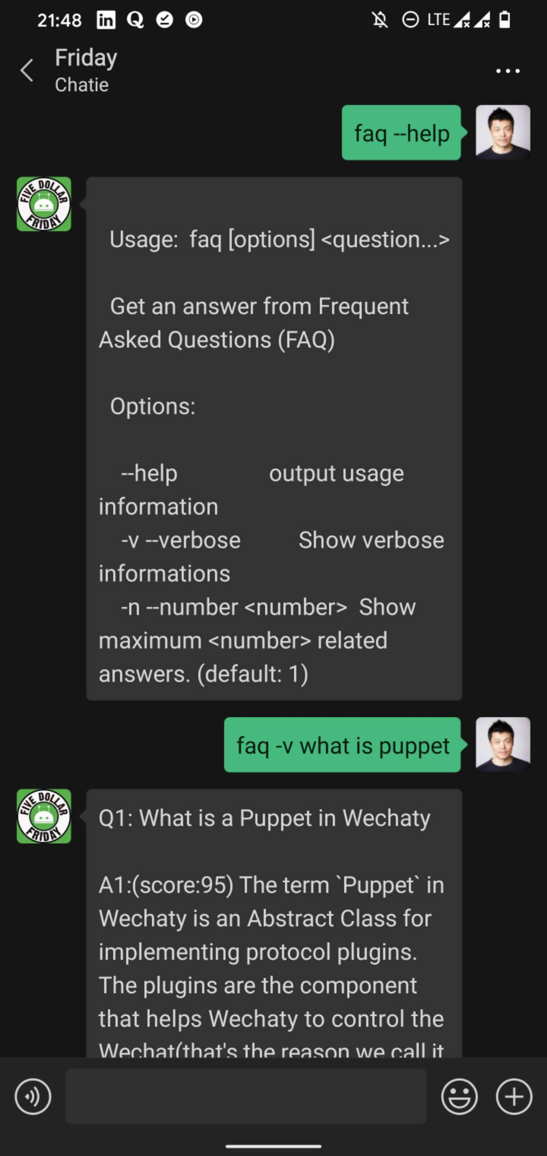 QnAMaker Wechaty Vorpal FAQ Command
