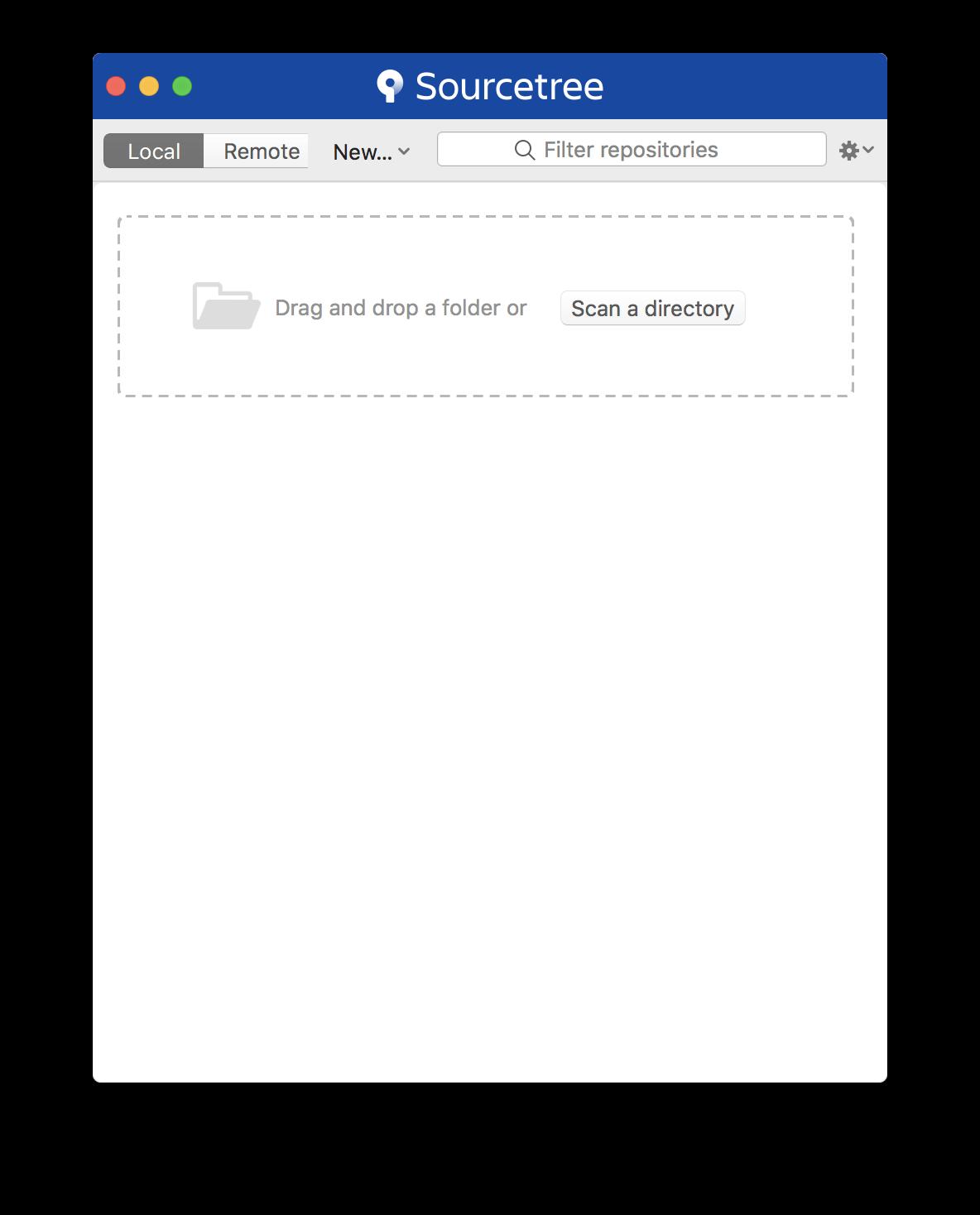 安裝完成的Sourcetree畫面