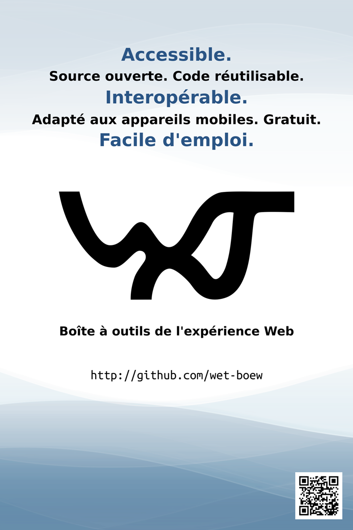 French poster for the Web Experience Toolkit