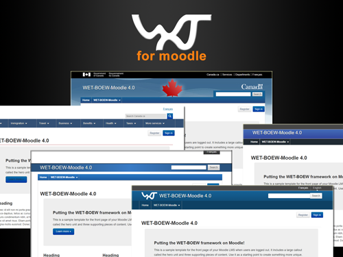 Screenshot of 5 WET-BOEW-Moodle 4.0 sub-themes