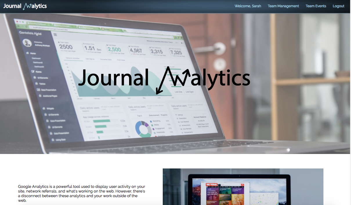 journal analytics demo link to youtube