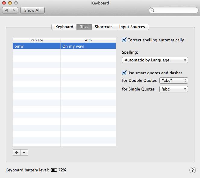 OS X Text Expander