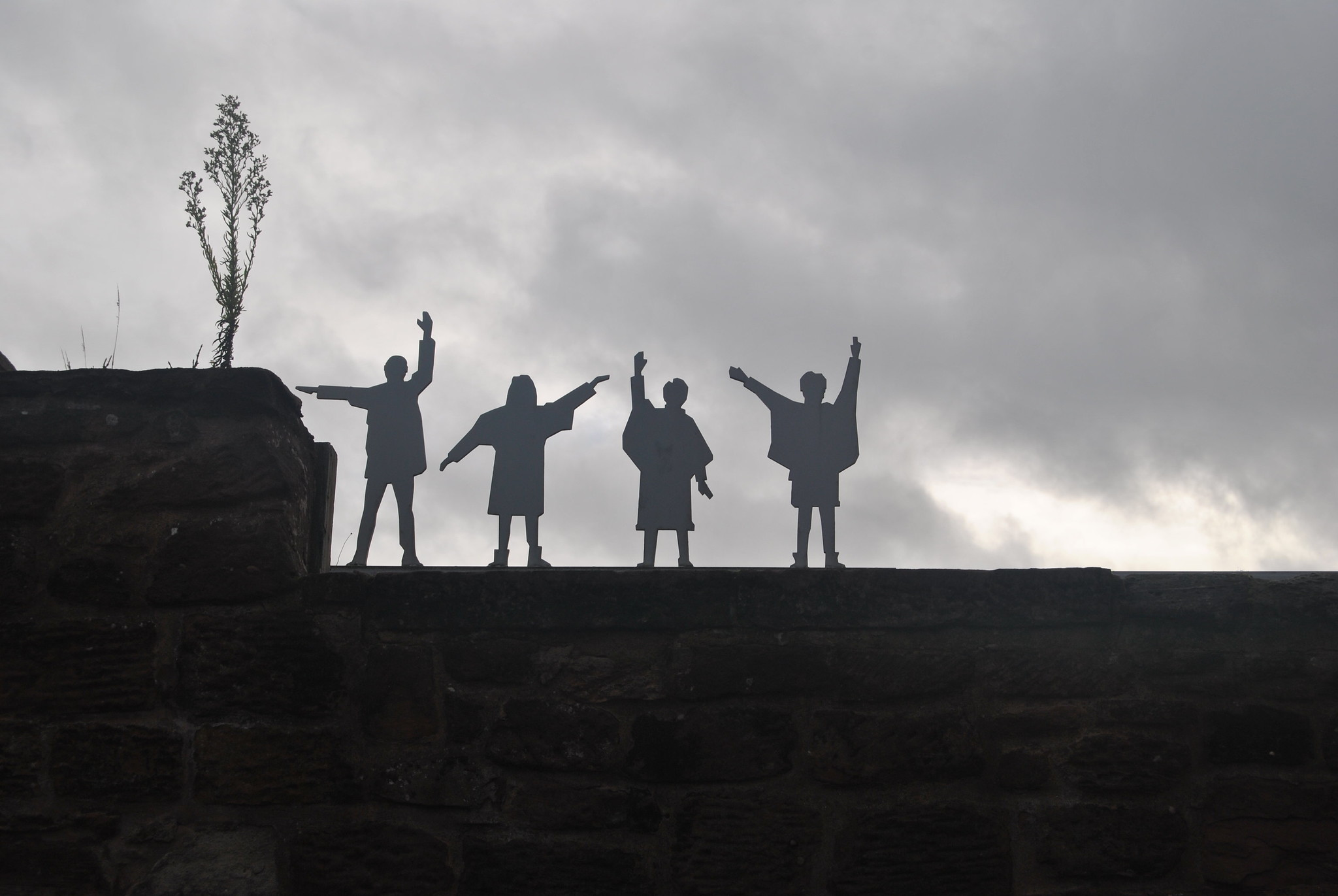 The Beatles - Help Sculpture on Wall
