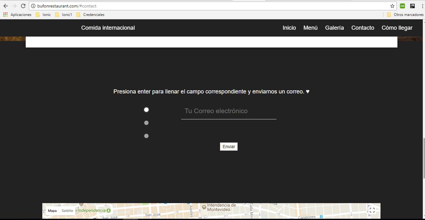 Screenshot Contacto