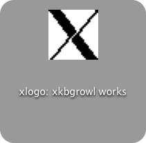 Growl displaying a notification from xkbgrowl