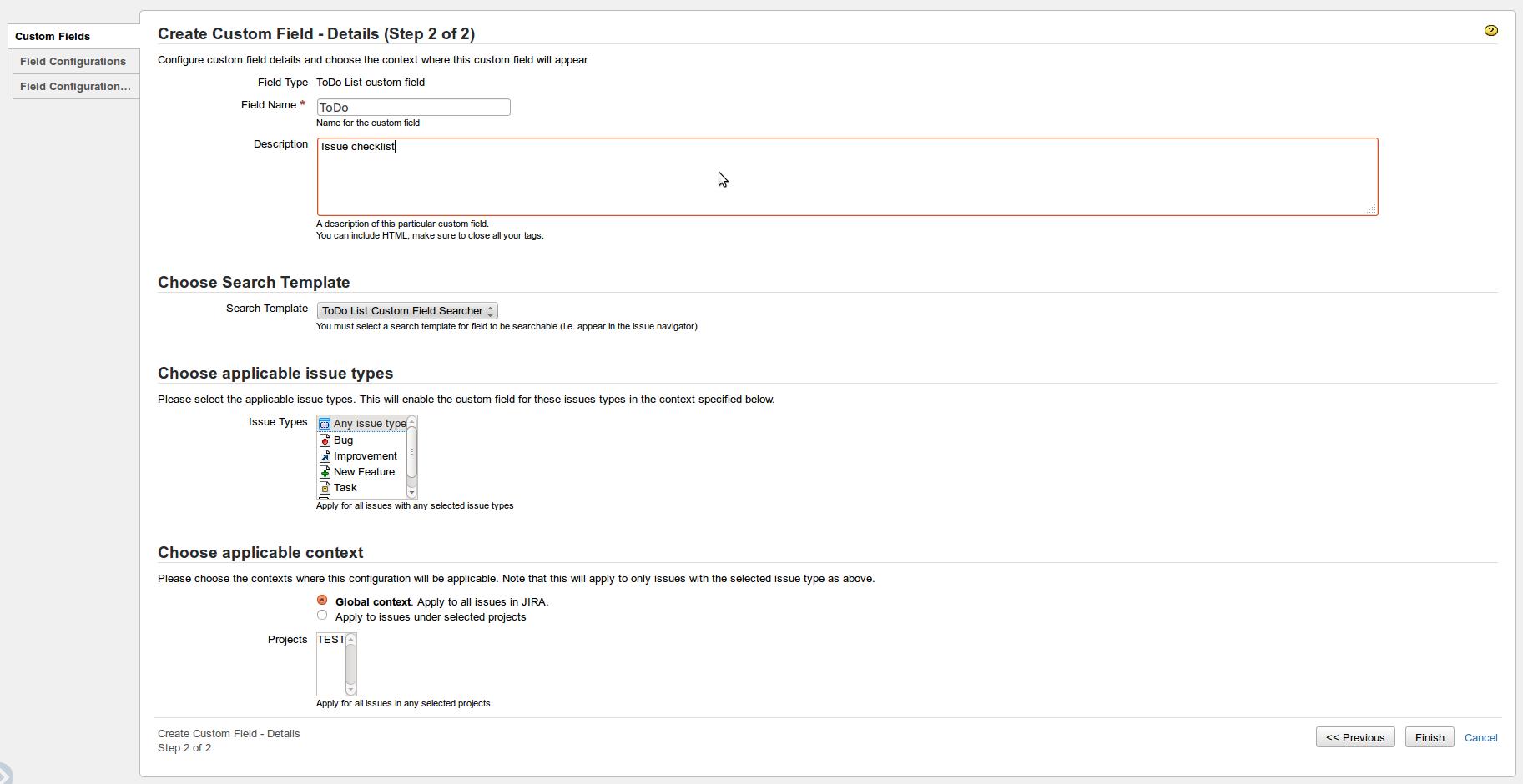 Configure Todo List Custom Field Andreyvmarkelovmailru Jira