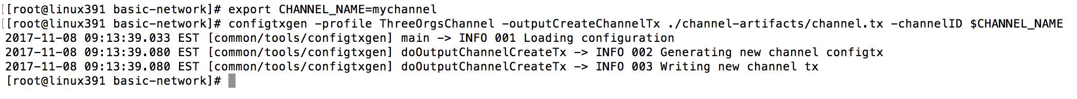 generate channel configuration transaction