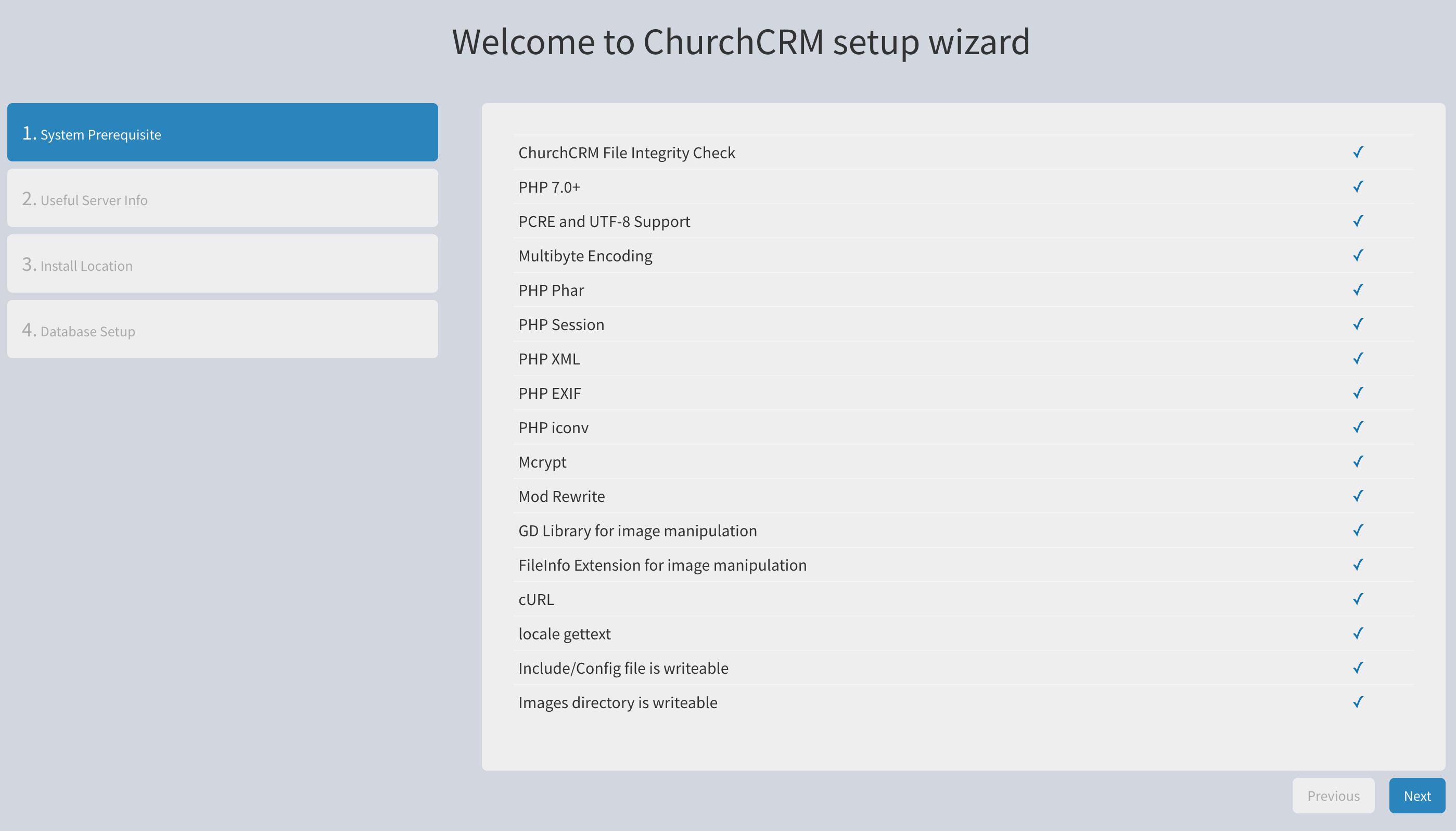 Installing On Centos 7 Churchcrmcrm Wiki Github
